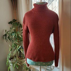 Eddie Bauer chunky knit sweater in a rusty orange